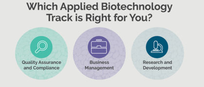 Which Applied Biotechnology Track is Right for You?